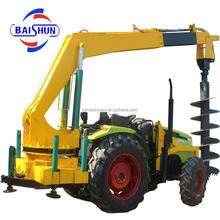 Excavator Mounted Earth Post Hole Driller Mini Digger For 3 Ton Excavator Tractor