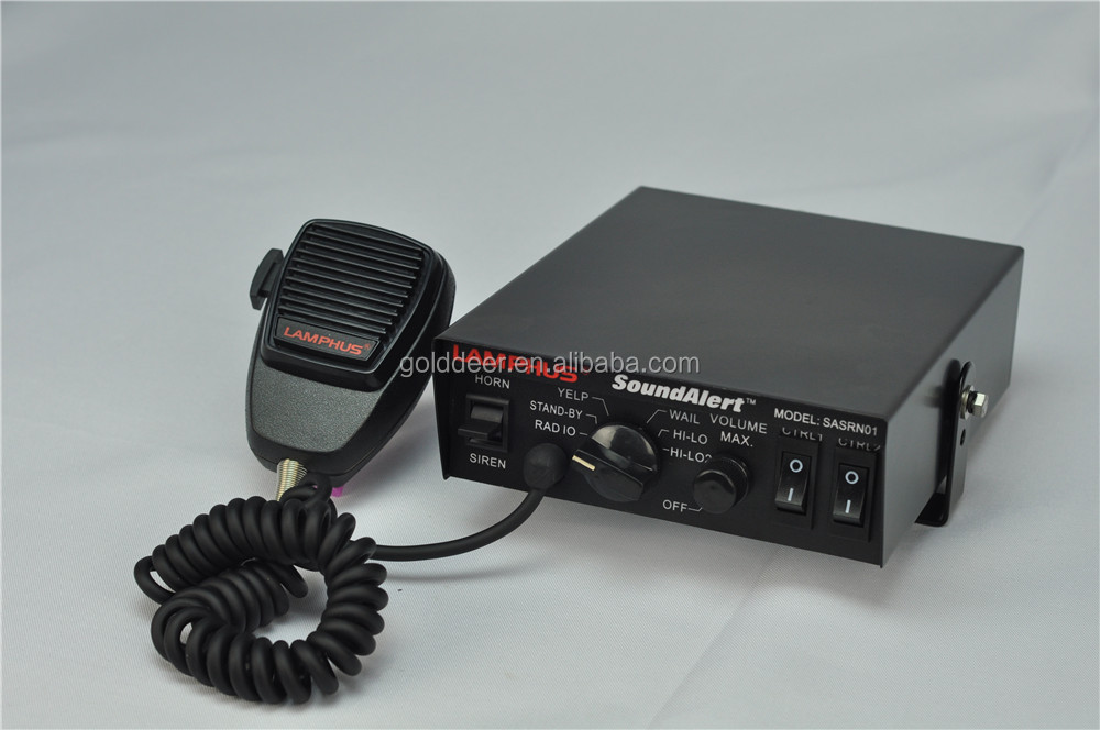Police Siren for Car Electronic 100w Siren with Light Controller (CJB-100AD)