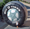 logo customized inflatable tire advertising balloon inflatable roller wheel for advertising
