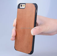 Eco-friendly Wood case for iphone6 with hard pc cover Perfect protect Manufacture Price