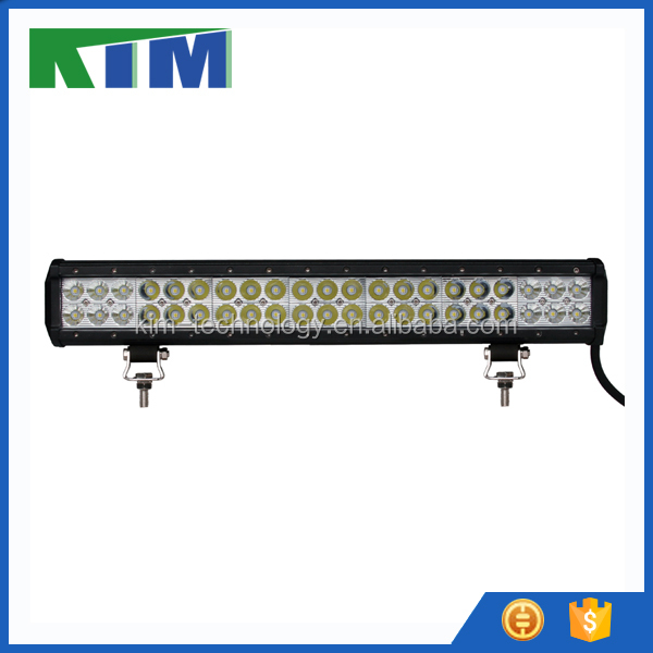 "KIM 5W each 44"" 210W double row led driving roof light bar for heavy duty car farm use truck off road auto beacon"