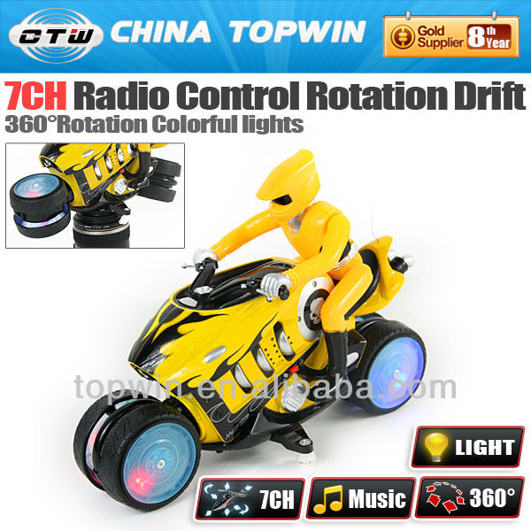 Radio remote control toy car 7CH rolling and drifting mini motor