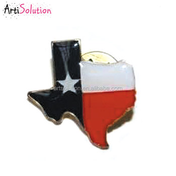 Wholesale Custom Cheap Price Texas State Flag Offset Printing Lapel Pin