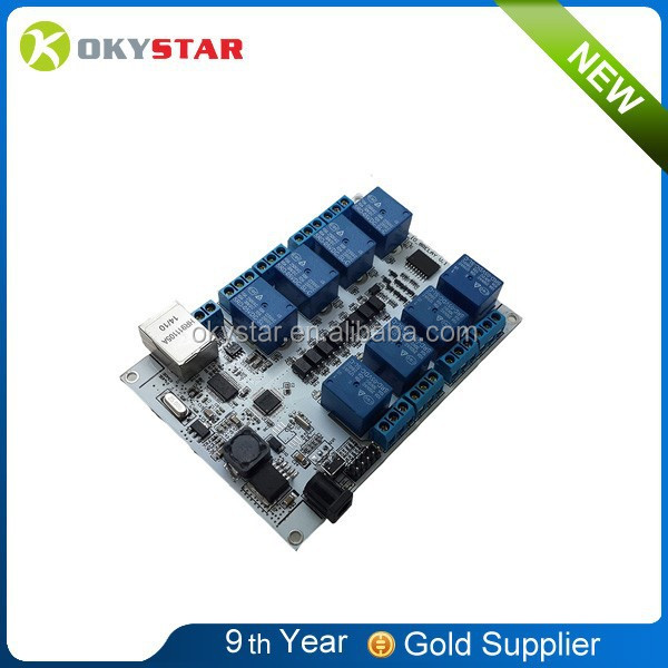 High quality with factory price! 8-way network relay module