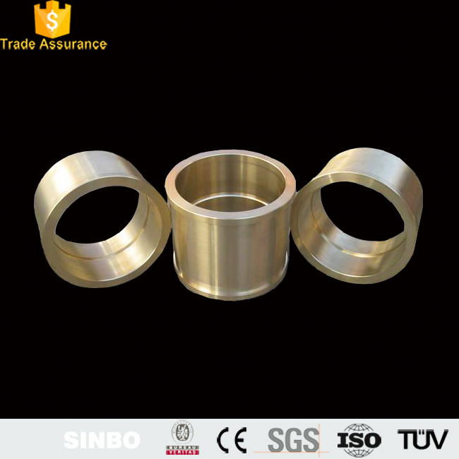 China wholesale sintered flanged bronze brass guide bushings self lubricating bearing bushings