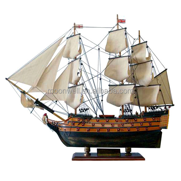"""HMS VICTORY"" British tall ship model,Wooden sailboat model,sailing boat,Souvenir,Nautical gift,maritime Decoration,home decor"