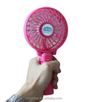 Newest 18650 lithium battery Handheld portable usb mini rechargeable fan with LED light