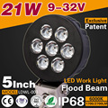 Factory automobile 21W led work lamp, 1700 lumen offroad led spot light