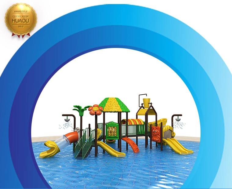 2018 new kids water play equipment, children Plastic slide water park playground