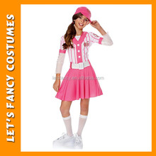 Pink baseball player sport wear carnival sport costume for kids PGCC2995