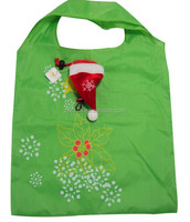 2015 cheap fashion custom 2013 christmas day foldable polyester shopping bag