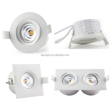 lepu gyro IP44 9w led cob downlight dimmable 2700k 3000k 4000k 5000k 83mm cutout with Nemko for norge sverige