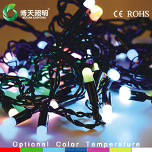 led holiday time decoration garden ball light stalk light string