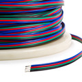 RGB 22awg black red green and blue LED strip cable 4 pins extension wire