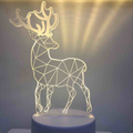 Creative 3d lamp led usb night light with free design logo