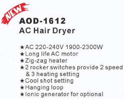 Fashionable professional long life Zig-zag heater hair dryer machine for salon