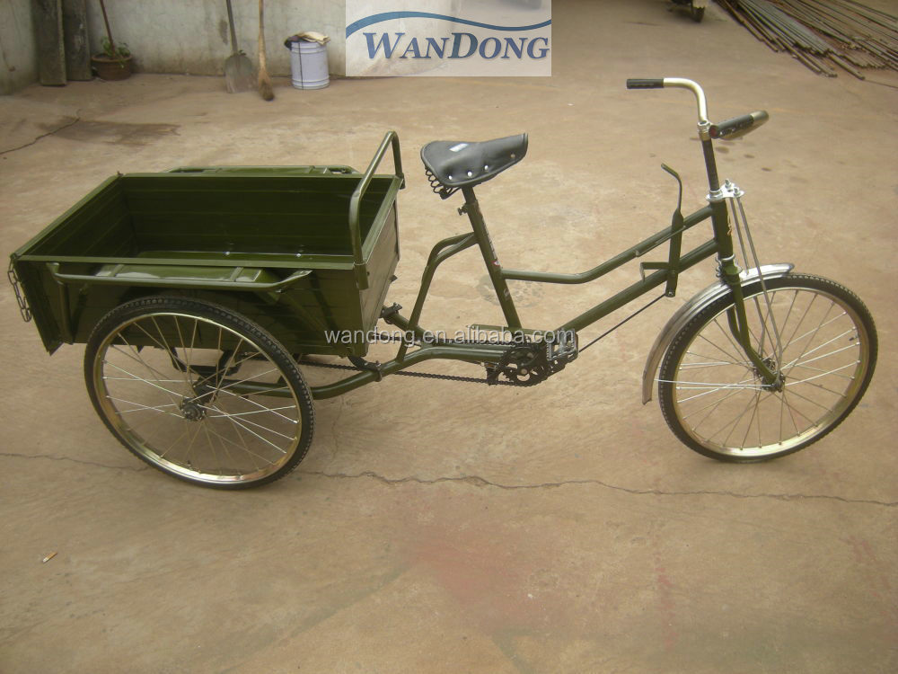 Human-power pedal cargo rickshaw tricycle for adult