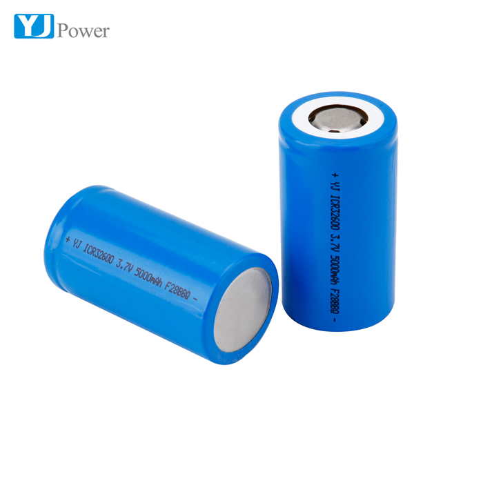High Capacity 5000mAh 32600 Lithium Ion Battery Cell for Flashlight Energy Storage