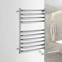 Ladder style curved bars electric towel heater towel rail 9003