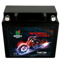 portable 12v 7ah Maintenance Free lead acid street bike battery