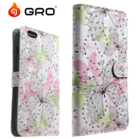 2016 3D Sublimation Flip Wallet Diamond Leather Case For Samsung ON5 G550