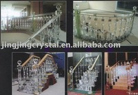 New Construction Material Crystal Stair Pillar