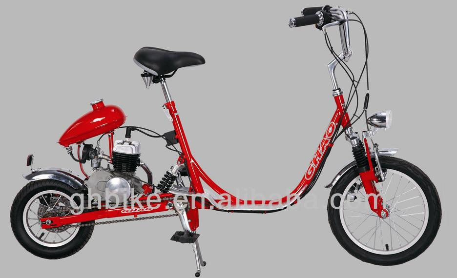 mini motor chopper bike bicycle,gasoline engine bicycle for adult 80CC motor petrol cycling for sale