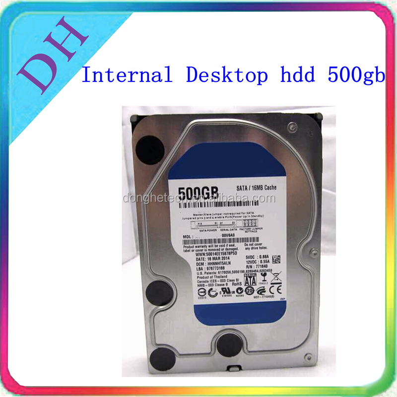 original factory refurbished hard drives, 3.5inch sata 500gb internal hdd refurbished/ second hand hard disk for PC/ DVR