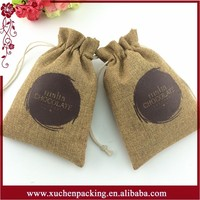 Factory Directly Selling Jute Bag Cocoa Beans/Jute Gift Bag/Jute Drawstring Bag