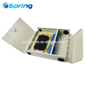 Indoor outdoor waterproof wall mounted 24 ports fiber FTTH box optical splitter box with Screw and buckle