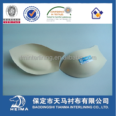 Molded bra cup with push up