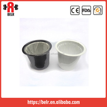 Disposable coffee filter/ K-cup use in tchibo coffee capsule empty