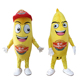 Soft plush yellow banana fruit mascot costume