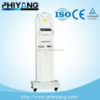 Hospital Sterilization Four-Tube Carbon Steel UV Ultraviolet Lamp Trolley With Infrared Sensing