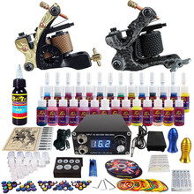 Tattoo kit 28 colors 5 ml tattoo inks with high quality power supply