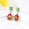 2017 Fashion Jewelry Mix Color Crystal Water Drop Gold Beautiful Designed Earring