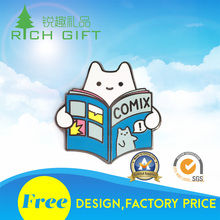 Factory wholesale cheap trading crafts metal soft enamel clear epoxy emoji lapel pins