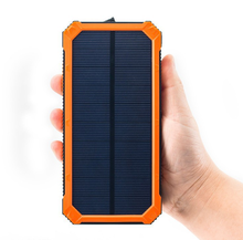 Shenzhen factory Rohs battery charger USB Powerbank 10000mAh Solar power bank charger
