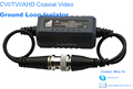 BNC male to BNC female CVI TVI AHD Coaxial video Ground loop isolator for 720p/1080p HD camera