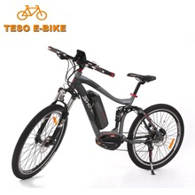 DAV mid drive mountain electric bicycle e bike with 250W 8FUN motor