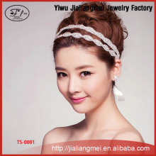 Continental handmade luxury hair jewelry crystal bridal wedding tiara headband wholesale