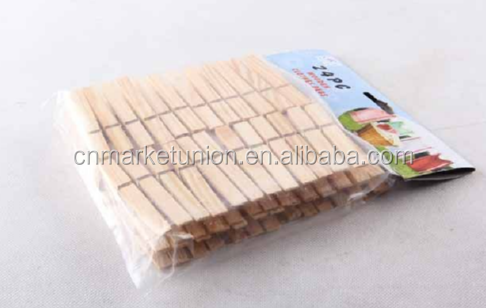 Cheap and Hot sale 48pcs wooden clothes peg wooden clip
