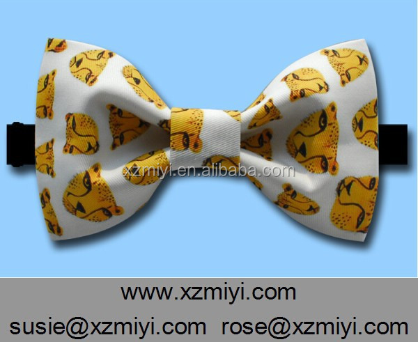 New Products Printed Polite Pre-tied Personalized Bow Ties
