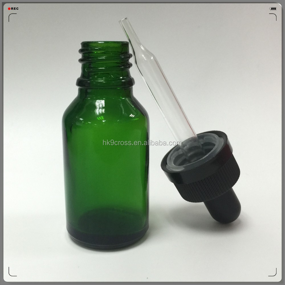 10ml green round dropper reed diffuser glass bottle for sale