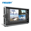 15.6 inch Screen 4K 3840*2160 Studio Broadcast Monitor Support Quad View and 6U Rack Mount