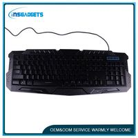 Professional new wired gaming keyboard with led indicator ,h0tfx cheap wireless keyboard and mouse for sale
