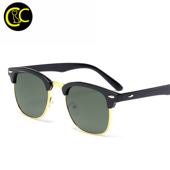 Classic Sunglasses Men Women Brand Designer Semi Rimless G15 Coating Mirror Retro Club Sun glasses 3016 Oculos De Sol CC5042
