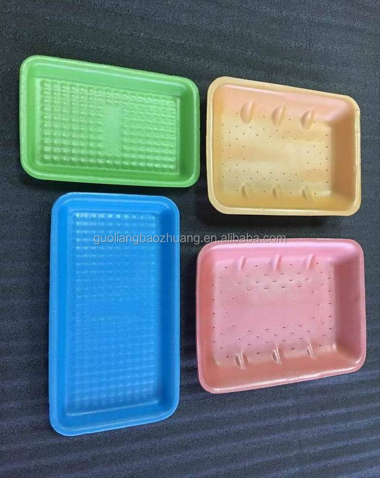 Wholesale Food Packaging Industrial Use White Absorbent Foam Polystyrene Meat Tray For Sale
