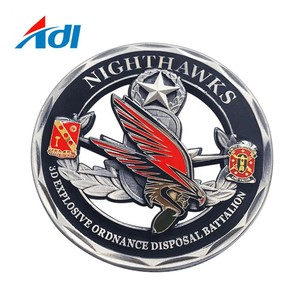 Promotional Zinc <strong>Alloy</strong> 3D Metal Challenge Coin