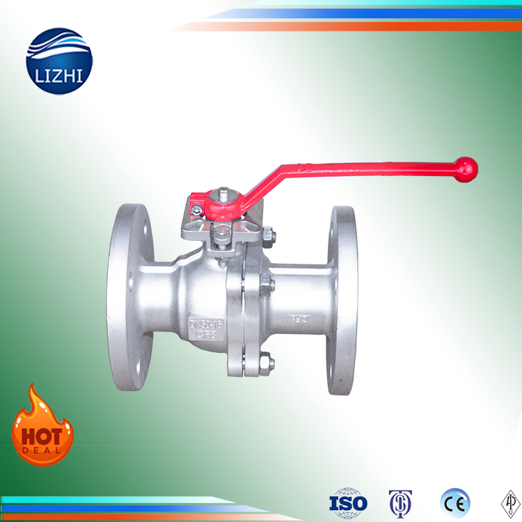 DIN PN16 water flow control ss304 316 manual flanged platform ball valve